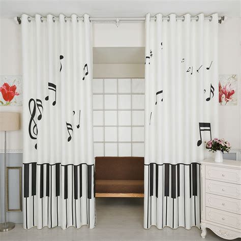 black  white unique nursery  note curtains  drapes