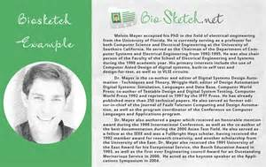 biographical sketch template biosketch exle written by professionals bio sketch