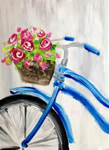 Painting Glass Vases With Acrylic Paint Red Roses And Blue Bicycle At Cigar Bar The Hall 30