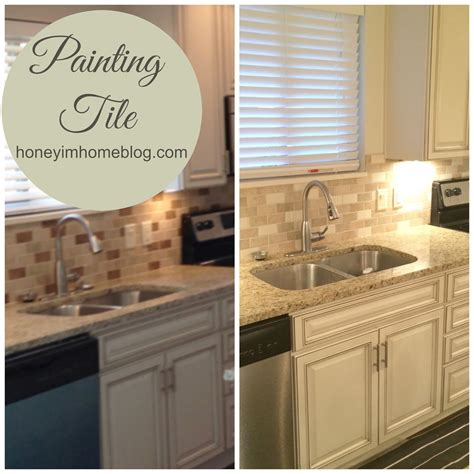 older and wisor painting a tile backsplash and more easy can you paint on tiles tile design ideas