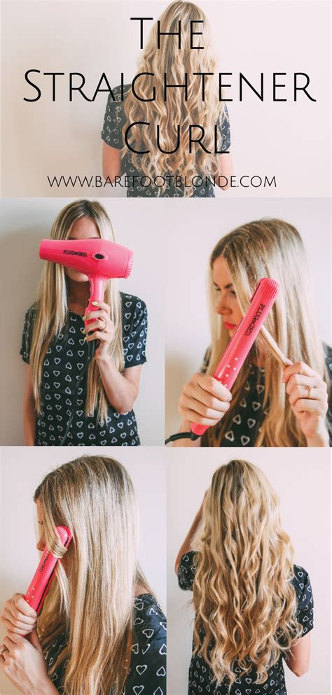 how do you use straighteners on a short side fringe the straightener curl barefoot blonde by amber fillerup