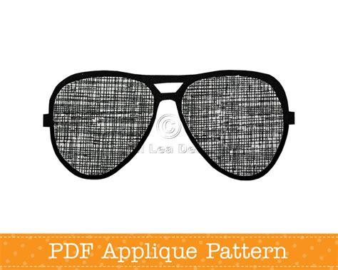 sunglasses template sunglasses applique template pdf applique pattern aviators