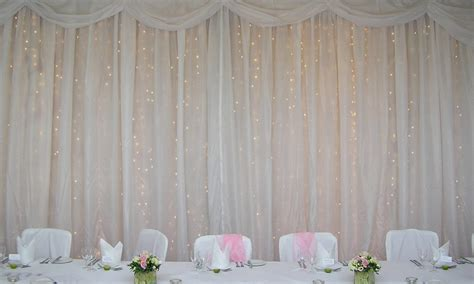 light curtains wedding ceiling draping