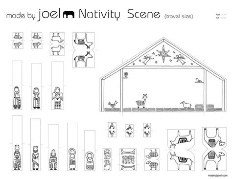 printable paper nativity scene made by joel 187 travel size paper city nativity scene