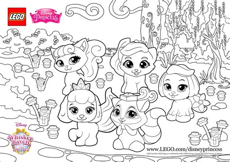 lego princess coloring pages color fun with the palace pets princess lego disney