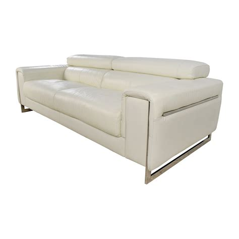 Sofa White Leather 64 Jnm J M Soho White Leather Sofa Sofas