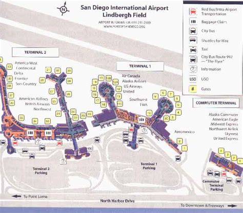 san diego airport map airport map