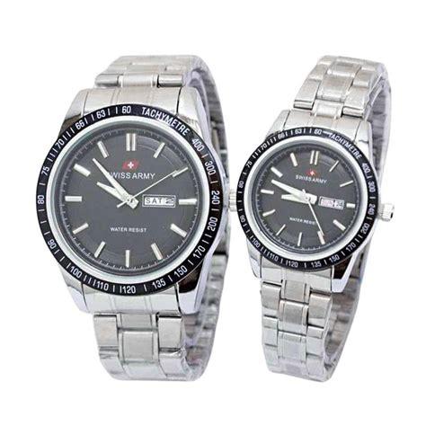 Jam Tangan Swiss Army White Black jual swiss army sa 330036 ad jam tangan white