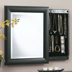decorative wall mirror and jewely organizer in jewelry
