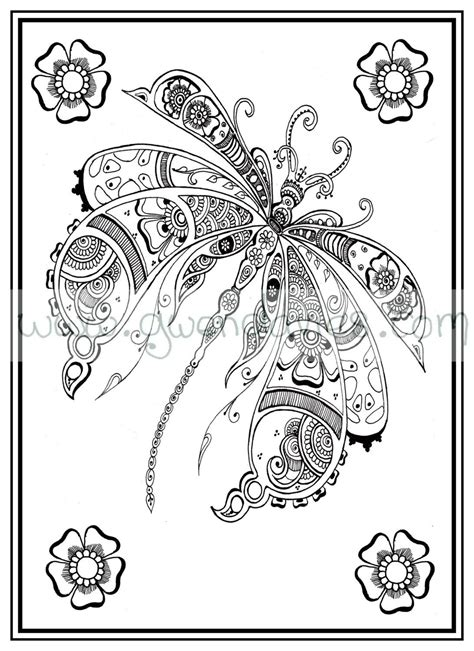 zen mandalas coloring book pdf colouring in pdf dragonfly henna zen