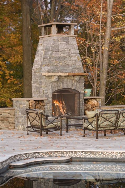 great outdoor fireplace plans diy decorating ideas images