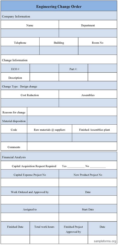 engineering change order template engineering change template pictures to pin on