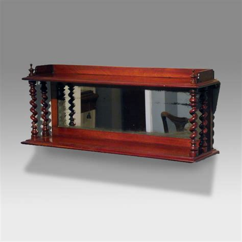 bookcase with mirror victorian mahogany mirror back wall shelf antique