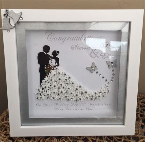 Wedding Box Frame Gifts personalised box frame wedding anniversary mr mrs