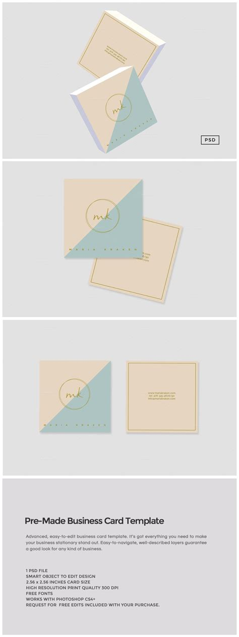 pre made business card template business card templates