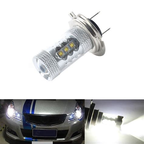 Lu Mobil Led H7 Smd 2pcs 2pcs bombilla lara h7 led cree luz blanco 80w para coche bajo consumo 000k h7 coche led