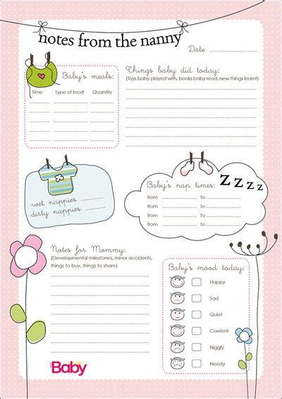 nanny to do list template nanny schedule template for baby to the nanny