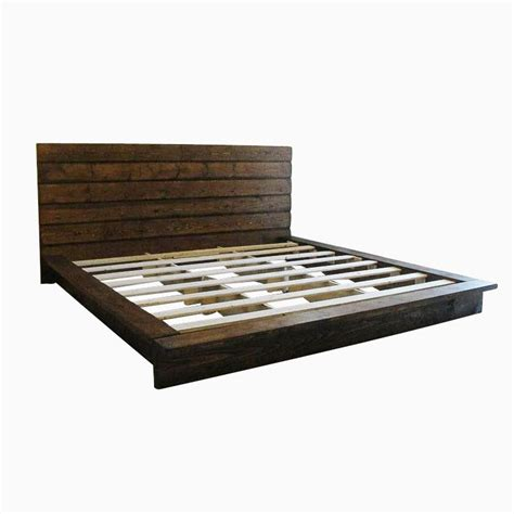 Rustic Platform Bed Custom King Rustic Platform Bed By Artisan Wood Custommade