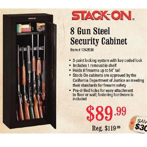 Gun Cabinet Black Friday by Stack On 8 Gun Steel Security Cabinet 89 99 Sportsman S