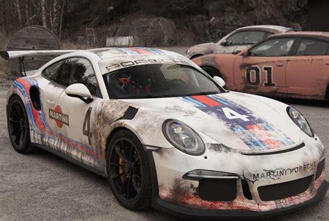 Rost Look Lackieren by Porsche 911 Gt3 Rs Martini Folierung Im Race Look