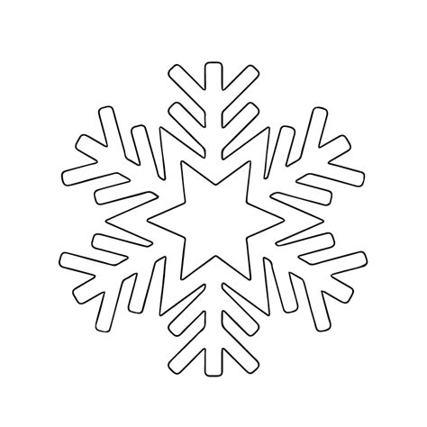 Printable Snowflake Template by Bright Light Snowflake Canvas