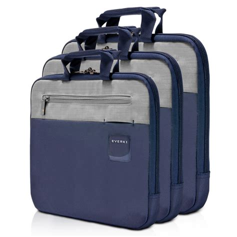 everki ekf861 contempro laptop sleeves bag with memory foam 11 6 inch navy blue