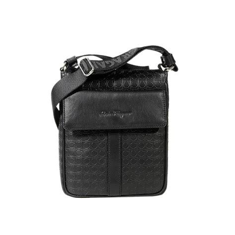Gamma Leather by Ferragamo Handbag Gamma Leather Logo Crossbody With Pocket