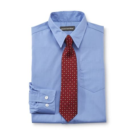dockers boys 2 pc dress shirt and tie set