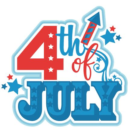 happy 4th of july clipart happy fourth of july clip free black and white