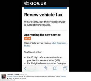 dvla new car tax dvla website crashes as worried motorists to renew