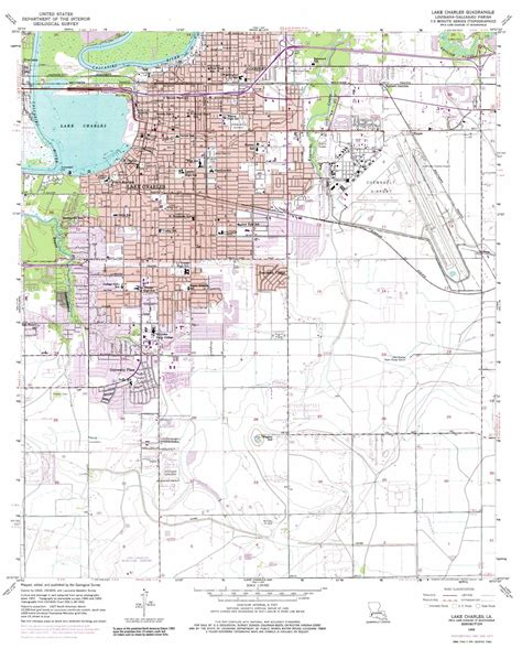 louisiana map lake charles lake charles topographic map la usgs topo 30093b2