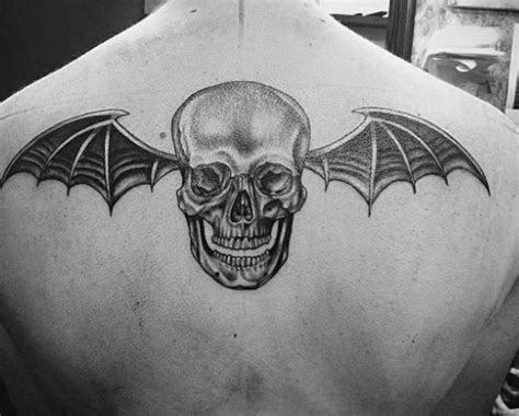 deathbat tattoo 30 deathbat designs for winged skull ink ideas