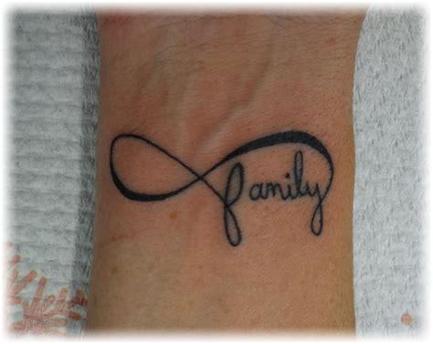 family tattoo on wrist infinity tattoos designs ideas and meaning tattoos for you