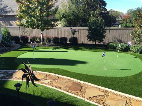small backyard putting green  maintenance lots  fun