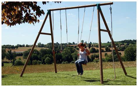 Balancoire Adulte Bois by Portique En Bois D 232 S 14 Ans Balan 231 Oire Offerte