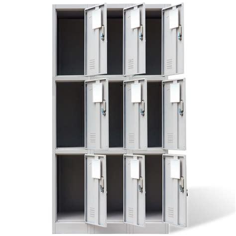 armadio di armadio di metallo con 9 ante grigio vidaxl it