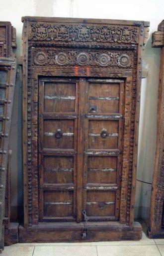 interior decor east an indian door xix century handwork bright decorative