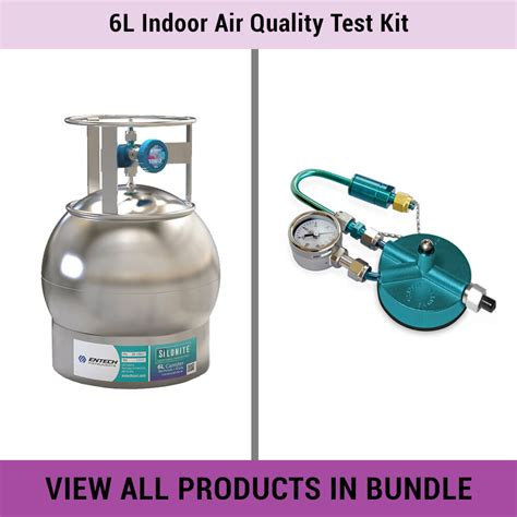 air quality test kit 6l indoor air quality test kit entech instruments