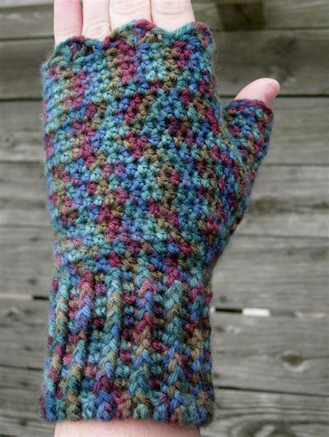 free pattern for crochet fingerless gloves adventures in crochet and spinning fingerless mitts
