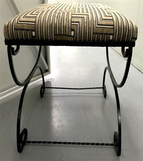 black wrought iron bench greek key black wrought iron bench for sale at 1stdibs