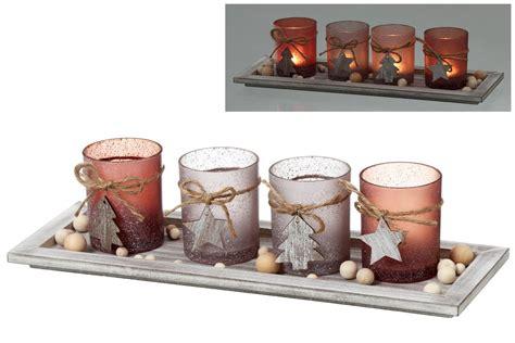 feuerschale mit glas windlichtset quot advent quot 5tlg glas teelichthalter mit dekoteller