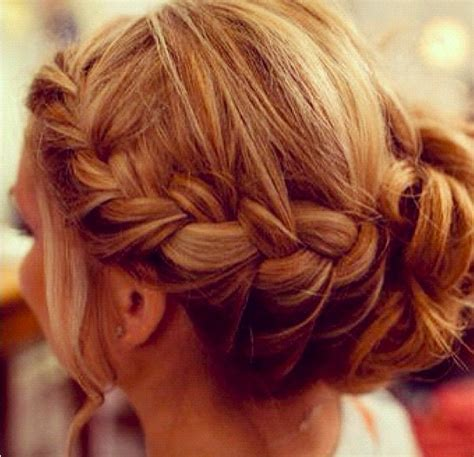 braided hairstyles with side bun side braid bun hair beauty pinterest