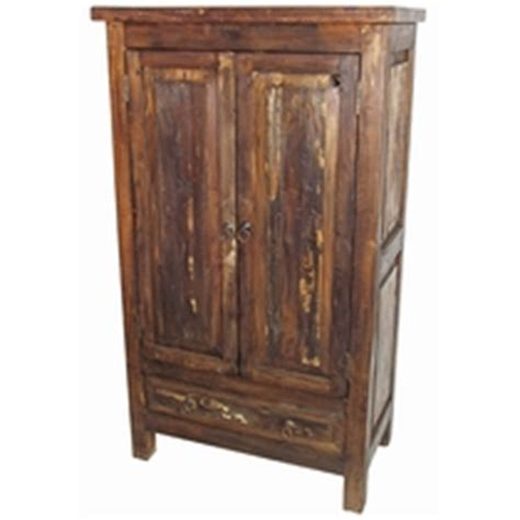 Distressed Wood Armoire by Rustic Wood Armoires Cabinets