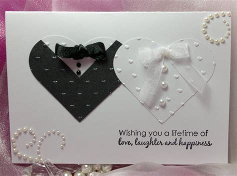 Handcrafted Wedding - handmade wedding card
