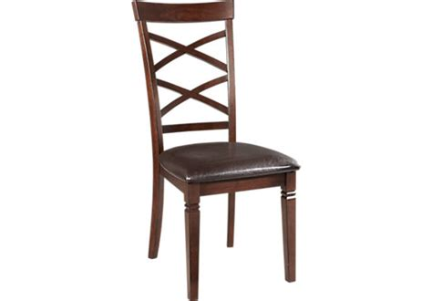 riverdale cherry x back side chair transitional