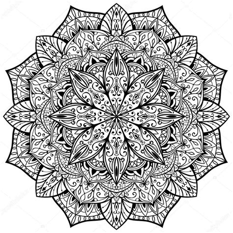 mandala coloring pages vector vector ornate mandala on a white background stock