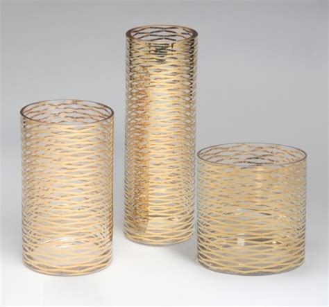 wonderful gold vases for that touch to your house
