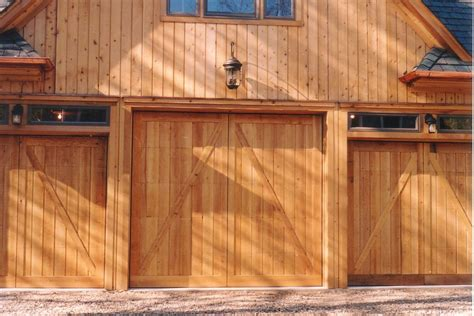 Overhead Barn Doors Barn Style Overhead Garage Door With False Hinges Matching Property Design And Materials