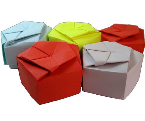 How To Make A Small Origami Box - paper origami pentagonal gift box all