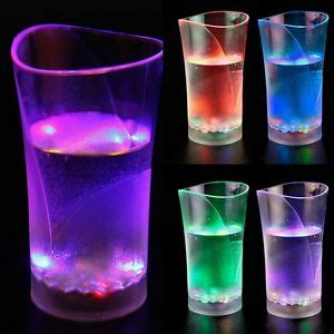 light up barware led auto light up drink flashing acrylic cola beer barware